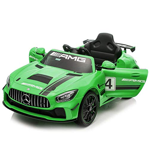 Baybee Mercedes Benz Baby Toy Car Rechargeable Battery Operated Ride on car for Kids/Baby with R/C Jeep Children Car Electric Motor Car Kids Cars,Baby Racing Car for Boys & Girls (Green)