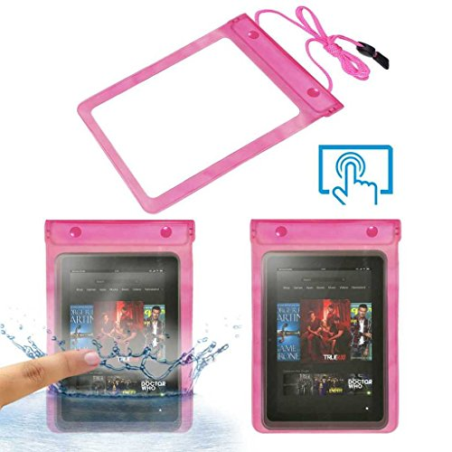 Acm Waterproof Bag Case Compatible with Amazon Kindle Fire Hd 8.9 Tablet (Rain,Dust,Snow & Water Resistant) Pink