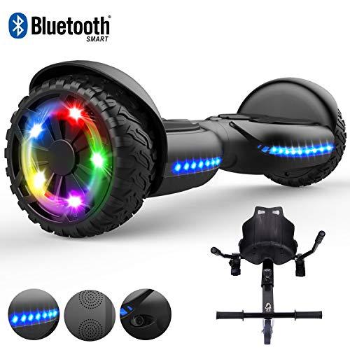 RCB Hoverboard scooter elettrico da 6,5 pollici per bambino adulto con luci lampeggianti pneumatico...