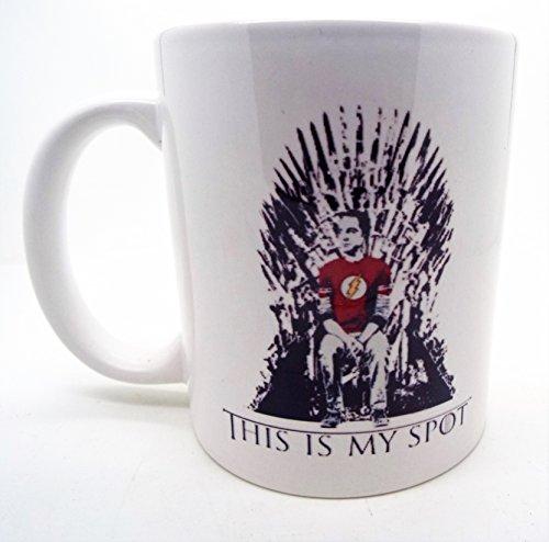 Este es mi lugar Sheldon Big Bang y el trono de hierro de juego de tronos ml taza