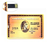8GB Ultraslim USB-Flash-Laufwerk 8GB Speicherstick USB American Express USB-Stick Golden Kreditkarte