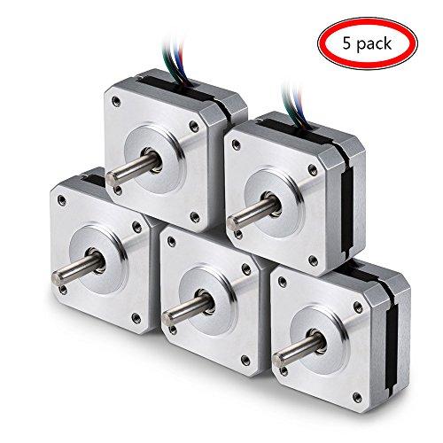 Specifiche elettriche: * Numero di articolo produttore: 17HS08-1004S * Tipo di motore: Stepper bipolare Angolo di passo: 1,8 gradi. Coppia di tenuta: 13Ncm (18.4oz.in) * Corrente nominale / fase: 1.0A * Resistenza di fase: 3.5ohms * Induttanz...