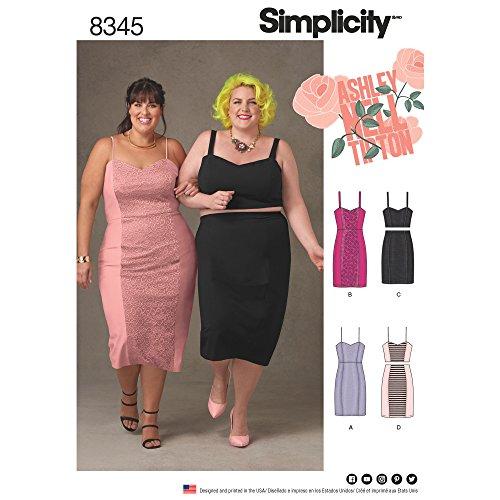 Simplicity Creative Patterns US8345F5 Plus Size Dress, Top & Skirt, F5 (18W-20W-22W-24W-26W)