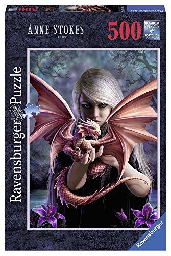 Ravensburger 14643 Puzzle Ragazza col Drago, 500 Pezzi