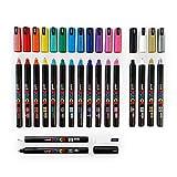 Posca PC-1MR 18 Pen-Set - In Limitierter Auflage Kunststoff-Box - Extra Schwarz und Weiß