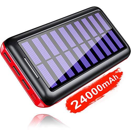 KEDRON Caricabatterie Portatile Power Bank 24000mAh Batteria Esterna 3 Porte USB con 2 Porte di...