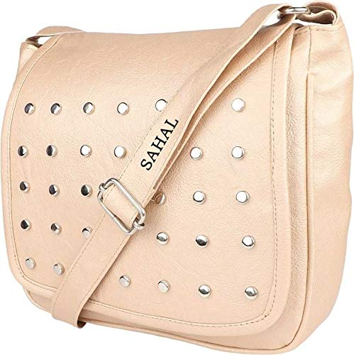 SAHAL Leatherette PU Tassel Cross Sling bag for Women and Girls College Office Bag, Stylish latest Designer Spacious Cross Body Bag Purse with Sling Belt. Gift for Her (WHITE)