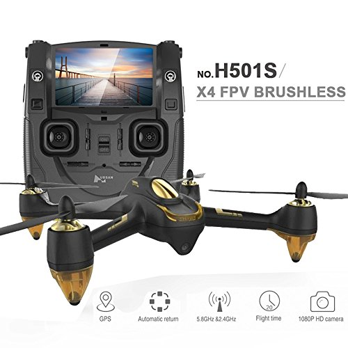 Hubsan H501S X4 5.8G FPV RC Drone with 1080P HD Camera Quadcopter with GPS Follow Me CF Mode...