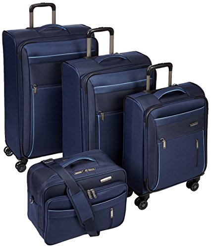Travelite Capri Set 4 Rad Bt 89840-02 Koffer-Set, 76 cm, Marine