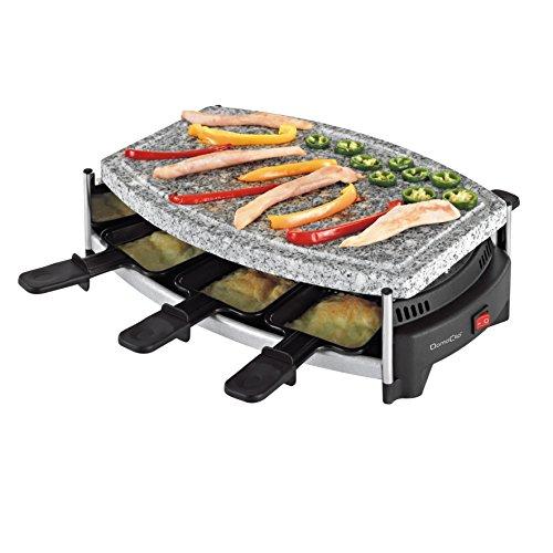 Domoclip DOM223 Raclette-Set mit Steinplatte, für 6 Personen