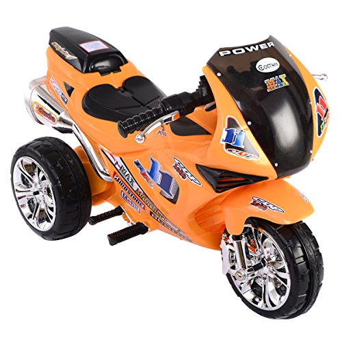 #Costway Kindermotorrad Elektromotorrad Kinderfahrzeug Kinderauto Dreirad (gelb)#