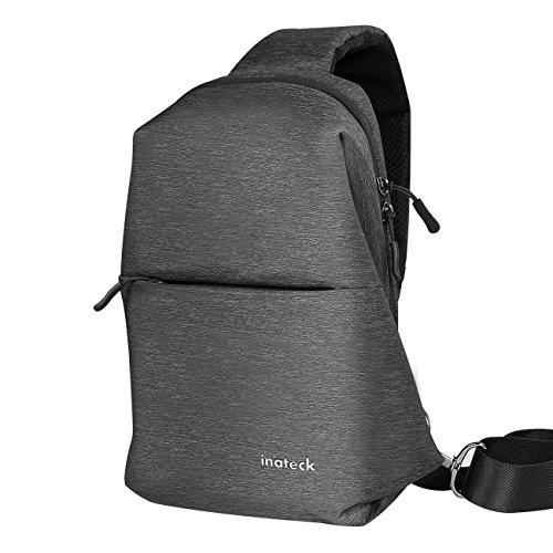 Inateck 10,5' iPad Pro Schultertasche mit Diebstahlschutz, Nylon Casual Brust-Crossbody-Tasche für...
