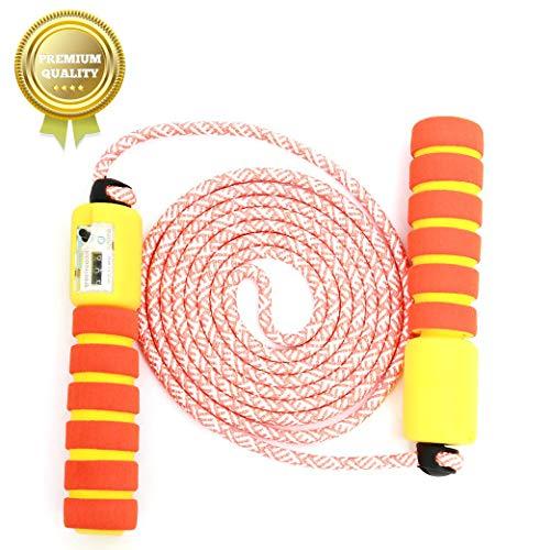 Springseil Speed Rope,springseil Boxen,springseil Sport Kinder,Springseil Kinder Speed Rope mit Zähler,Springseil Sport,Verstellbares Speed Rope Seilspringen! (Orange)