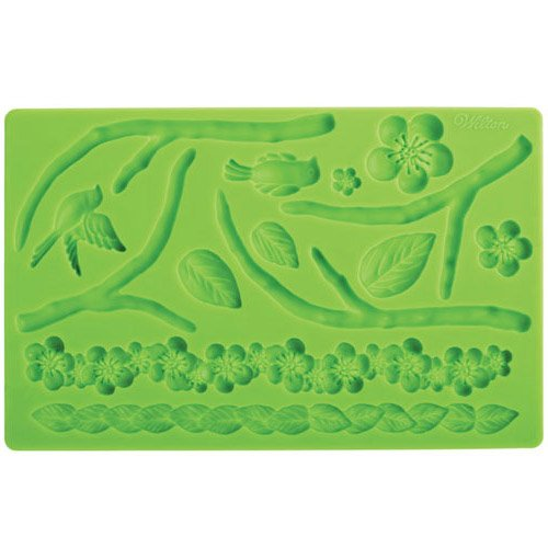 Wilton-409-2565-Fondant-und-Gum-Paste-Mold-Nature-Silikonform-Silikon-grn-1-x-12-x-26-cm