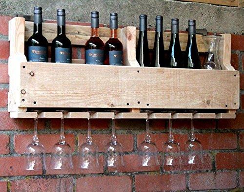 dekorie67 Cantinetta Vino Bicchiere di Vino portabicchieri lter portabottiglie 90cm Larghezza in...