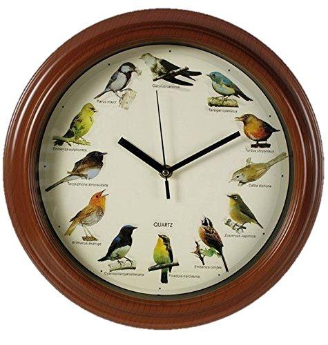 Out of the blue 79-3151 - Orologio da parete in plastica con i suoni di uccelli, diametro 33 cm, multicolour, plastica;vetro, tondo