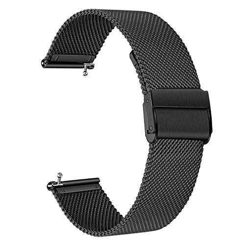 TRUMiRR Sostituzione per Fitbit Versa/Versa 2 Cinturino,Cinturino in Acciaio Inossidabile Intrecciato a Maglia Cinturino a sgancio rapido Cinturino di Ricambio per Fitbit Versa/Versa Lite/Versa SE