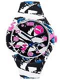 Puma Damen Analog Quarz Smart Watch Armbanduhr mit Silikon Armband PU103001022