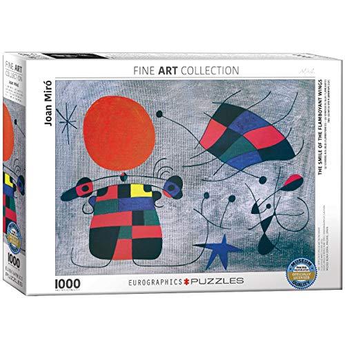 Eurographics, puzzle 'Joan Miro, Il sorriso delle ali fiammeggianti', 1000 pezzi, multicolore