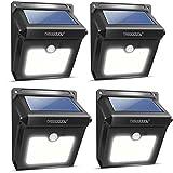 Neloodony 4Pack 28 LEDs Solarleuchten für Aussen, Bewegungsmelder Wasserdichte Solarleuchte Garten