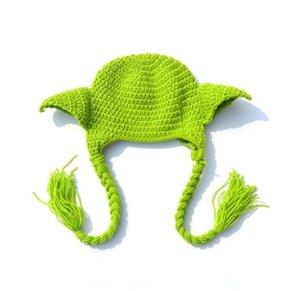 Lyguy - Sombrero para fotografía de bebé Hecho a Mano, diseño de Yoda de Star Wars