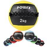 Wall-Ball Gewichtsball Medizinball Deluxe Professional von POWRX 2 - 10 kg | versch. Farben (2 kg / Gelb)