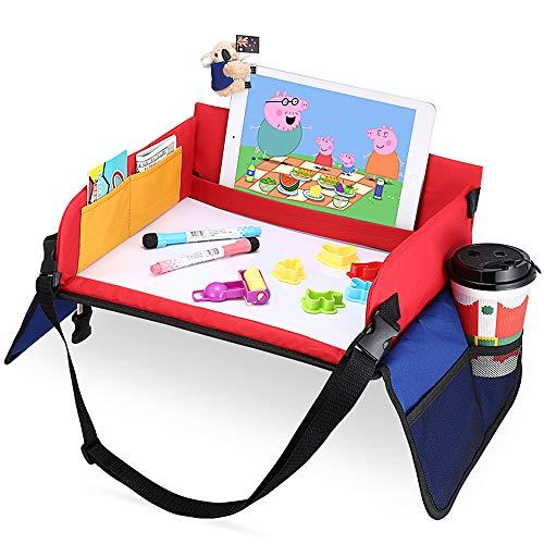 Vassoio di Viaggio per Auto da Toddler, Snack e Play Tray Lavagna Magica+ 6 Penna Cancellabile con 3...