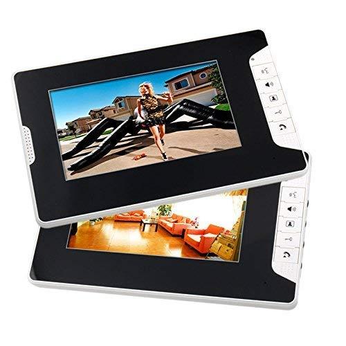 NA Home - Videocitofono a colori da 7', con 1 monitor bianco, 1 lettore di schede RFID, videocamera HD da 1000Tvl + blocco elettrico impermeabile IP44