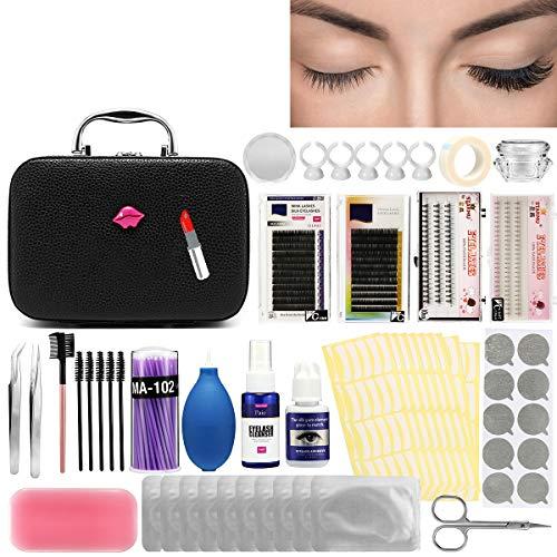 Kit Complet Exercice d' Extension de Cils Luckyfine- Niveau Luxe Édition Pratique Outil -Salon de Beauté, Outil de Maquillage -22pcs 22