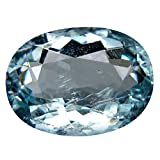 Acquamarina Pietra preziosa sciolto 1.91 ct AAA Grade Oval Shape (10 x 7 mm) Brazilian Blue Aquamarine Natural Loose Gemstone