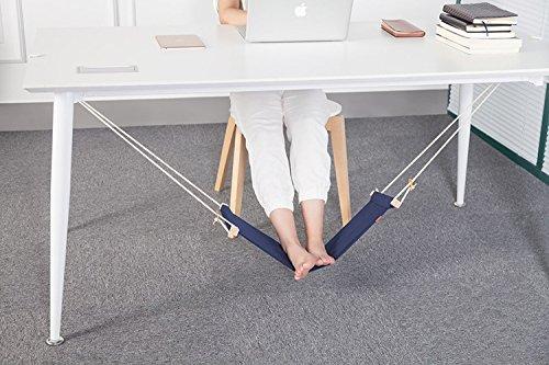 icase4u® Büro Fuß Hängematte unter dem Schreibtisch Verstellbar(3 Farben)