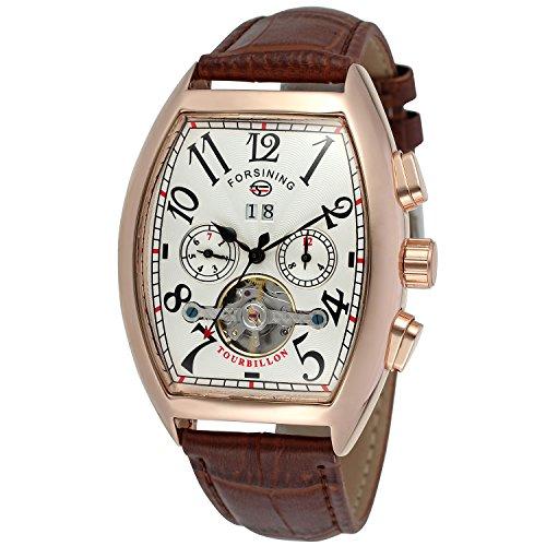 Forsining, orologio da polso FSG9409M4R3, da uomo, elegante e automatico, con meccanismo tourbillon...