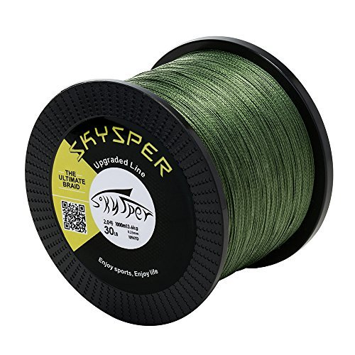 SKYSPER Angelschnur Geflochtene 4 Braid Fishing Line Super Braided Schnüre 500m 1000m