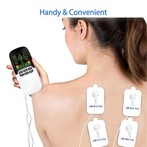 Tens stimulation, Elektrostimulationsgerät, Breett Dual-Port Massager Tension Unit, Muskel Stimulation Ganzer Körper, für Schmerzlinderung und Entspannung, Wiederaufladbare - 5