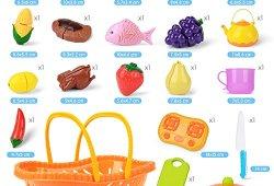 *NextX Jeu D'imitation – 20 pièces Set – Jeu de cuisine legumes fruits Jouet éducatif pour Bébé et Enfants Meilleure offre de prix
