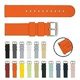 Archer Watch Straps   Cinturini per Orologi in Silicone Morbido a Sgancio Rapido di Ricambio Cinghie (Arancio, 18mm)