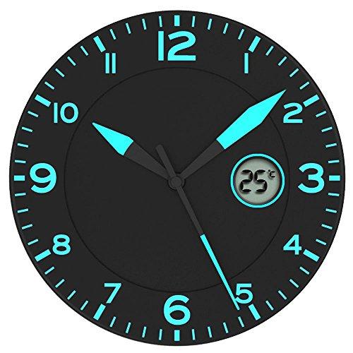 Orologio da Muro Nero/Blu * Con Temperatura