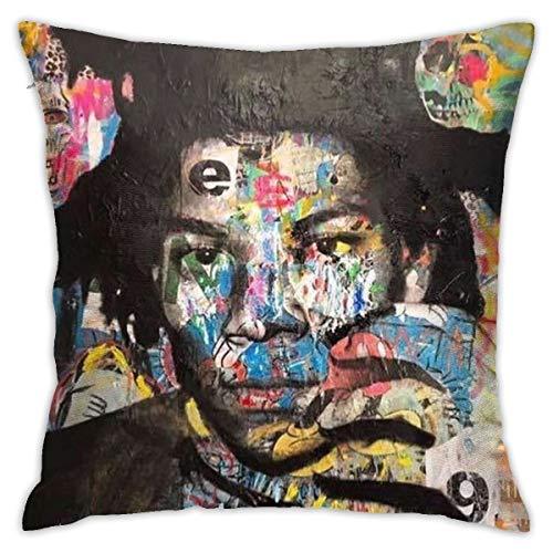 NA Jean Michel Basquiat- Camera da Letto/Soggiorno/Camera/Divano Romantico Federa per Cuscino 18...