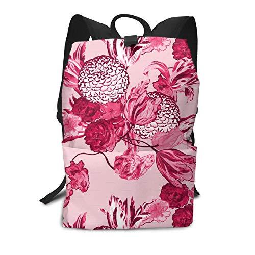 Homebe Mid Century Modern Floral Art Pink Zaino Holder,Borse Scuola,Zaino per la Scuola School...