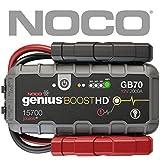 NOCO Boost HD GB70 2000 Ampère 12V UltraSafe Sauter Démarreur de Batterie de Voiture Essence jusqu'à 8L et Moteurs Diesel jusqu'à 6L