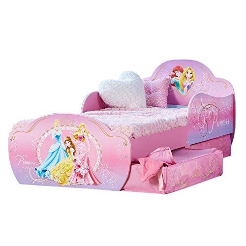 Worlds Apart Principesse Disney - Lettino per Bambini con Contenitore Sottoletto