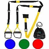 Schlingentrainer »Alexandros« / Sling - Suspension - Training / Rutschfeste Griffe inkl. Türanker, Karabinerbefestigung und Transportbeutel / braun