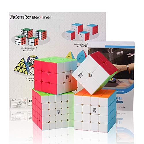 Roxenda Bundle di Cubo di velocità, Cubo Magico Set di Cubo di Puzzle Speedless 2x2x2 3x3x3 4x4x4...