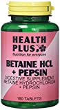 Health Plus Betaine Hcl + Pepsin Digestive Health Supplement - 180 Tablets