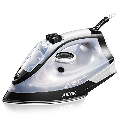Fer à vapeur, Fer à repasser vapeur Aicok, Puissance 2200W, Contrôle variable de la température et de la vapeur/semelle