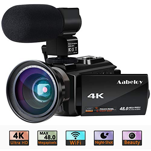 Caméscope 4K Vlogging Caméra Vidéo Ultra HD Wi-Fi Appareil Photo Numérique 48MP 3'' écran Tactile Vision Nocturne 16X Enregistreur de Zoom N... 22