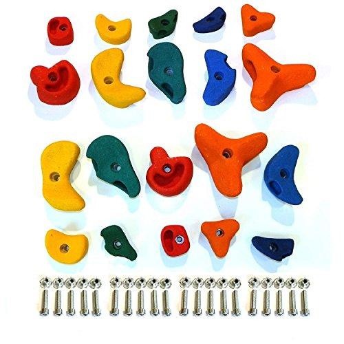 Piedras de escalada mix 20 piezas con enchufes de escalada Gartenpirat®