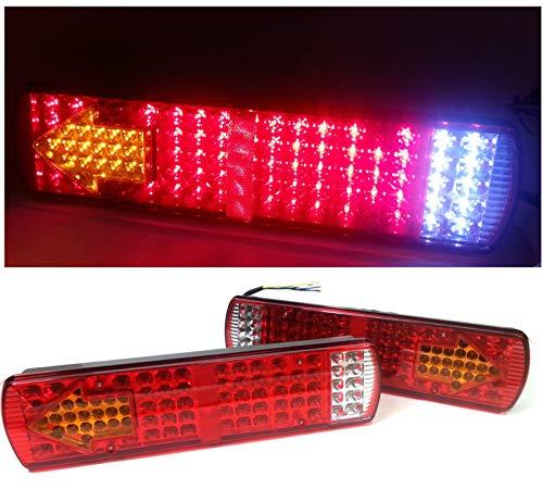 flexzon Coppia 24v LED Luci Fanali Posteriori per Camion Rimorchio Autocarro DAF Scania Man