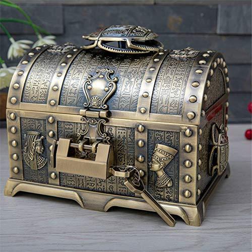 scatola di gioielli, scatola di immagazzinaggio di gioielli multistrato europea creativa in metallo...