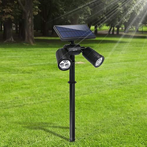 Lampade Solari da Giardino FKANT 2 in 1 Lampada Solare da Esterno con 6 LED luminosi, IP65...